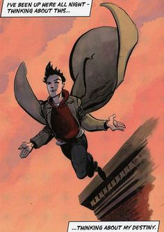 Heroes: Here's a better version of the Peter flying painting- well better because there's not a Sylar slice through it