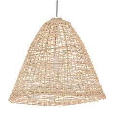 Lampe Suspension Straw Rotin Corail et Naturel Armature Blanche Serax