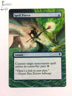 Spell Pierce - Extended - MTG Alter - Revelen's Light Altered Art Magic Card #WizardsoftheCoast