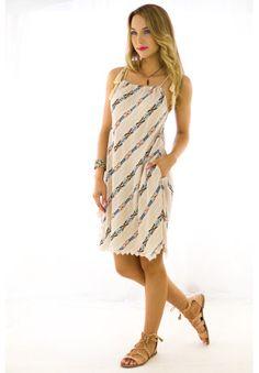 Ace Aztec Cream Dress