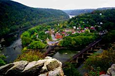 Harpers Ferry, W Va.  One of the most beautiful places on earth.  Great historical significance