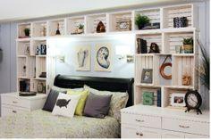 DIY créer une tête de lit avec des caisses de bois / headboard made of wood crates