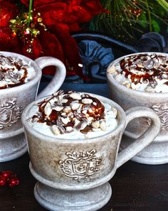 This Malted Hot Chocolate recipe is delicious! Try this fun hot chocolate recipe out next time you want to make a comforting warm beverage. Hot Chocolate Recipes, Hot Chocolate Bars, Chocolate Coffee, Yummy Drinks, Delicious Desserts, Dessert Recipes, Yummy Food, Drink Recipes, Nespresso