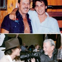 Johnny Depp and his dad!! Thank you Johnny's dad