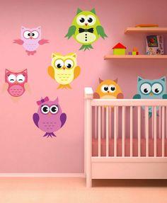 Buhos y Lechuzas - Stickers infantiles