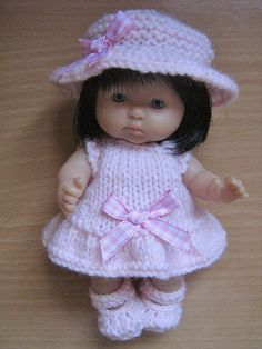 """Ravelry: 5"""" Berenguer Doll Sunday Best Outfit pattern by Tracey Devenney"""