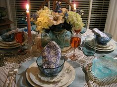 My Inspiration for my Tablescape was my love for Easter ~~ I had to re ...