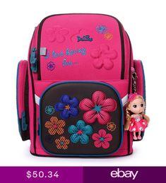 a9127ceda4 Delune School Bag 3D Flower Bear Printed Burden Reducing School Backpack  Kids