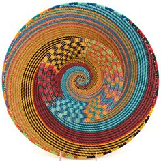 Africa | Basket made in Zululand, South Africa, out of copper wire.
