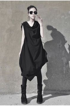 Sleeveless  Asymmetrical dress looser casual by Lemontree2013. women's fashion and style.