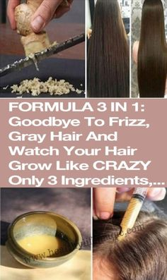 FORMULA 3 IN 1: GOODBYE TO FRIZZ, GRAY HAIR AND WATCH YOUR HAIR GROW LIKE CRAZY ONLY 3 INGREDIENTS, MULTIPLE RESULTS! | Healthy Life Magic