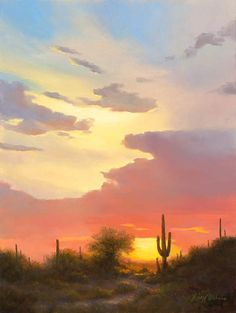 Oil Painting of a sunset in Arizona by artist Lucy Dickens. Landscape Photography, Nature Photography, Sea Drawing, Sky Painting, Nature Aesthetic, Evening Sky, Sky And Clouds, Beautiful Sky, Aesthetic Pictures