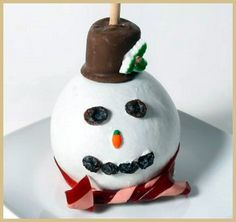 Image detail for -FROSTY SNOWMAN CARAMEL APPLE