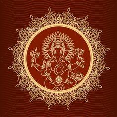Lord Ganesha Sunburst