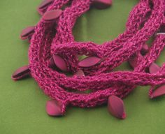 Pink French Knitter necklace inspiration