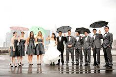 Gray BM dresses + Gray suits = too much GRAY?? :  wedding bridesmaid dresses gray Grey