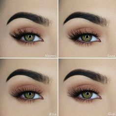 Secrets of a beautiful make-up for green eyes – Beauty Makeup Hazel Eye Makeup, Makeup For Green Eyes, Skin Makeup, Beauty Makeup, Hazel Eyes, Makeup Brushes, Natural Eyeliner, Natural Eye Makeup, Wedding Day Makeup