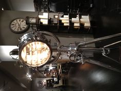 Old airplane hangar lamps!