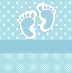 Baby Footprints Card Template
