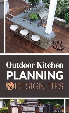 Maximize your backyard year round with an outdoor kitchen. Expand your outdoor space for cooking, eating, entertaining, and even relaxing. Here are some helpful tips to consider before starting an outdoor kitchen project. Outdoor Kitchen Plans, Outdoor Kitchen Countertops, Backyard Kitchen, Outdoor Kitchen Design, Kitchen Grill, Outdoor Kitchens, Outdoor Rooms, Outdoor Living, Outdoor Furniture Sets