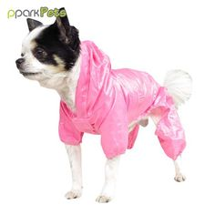 Dog Pocket Raincoat - Pink - Large *** Unbelievable  item right here! (This is an amazon affiliate link. I may earn commission from it)