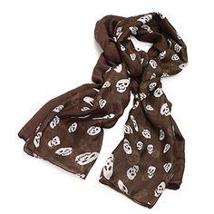 Ensemble écharpe motif léopard animal ou bijou tête de mort et plaine  Bijoux Tête De Mort 1fb19cff9f3