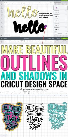 How to Make Outlines/Shadows to use in Cricut Design Space