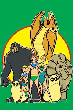 herculoids by AlanSchell on DeviantArt Classic Cartoon Characters, Cartoon Tv Shows, Favorite Cartoon Character, Classic Cartoons, Comics Und Cartoons, Old School Cartoons, Cool Cartoons, Cartoon Crazy, Cartoon Art