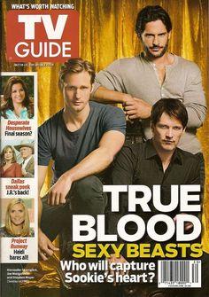 TV Guide,True Blood, Alexander Skarsgard,Stephen Moyer,Manganiello,July 2011~NEW