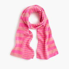 """Cashmere means this scarf is supercozy...and a playful striped pattern means it's superfun. <ul><li>55""""L x 7""""W.</li><li>Cashmere.</li><li>Import.</li><li>Online only.</li></ul>"""