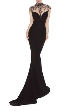 Emmani Women's Sheer Neck Sleeveless Long Trailing Evening Dresses ** Continue to the product at the image link. (This is an affiliate link and I receive a commission for the sales)