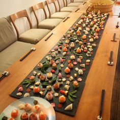 Catering Food in Japan: ケータリングフード Sushi Catering, Art Catering, Sushi Buffet, Sushi Roll Recipes, Veggie Sushi, Sushi Art, Catering Display, Food Stations, Creative Food