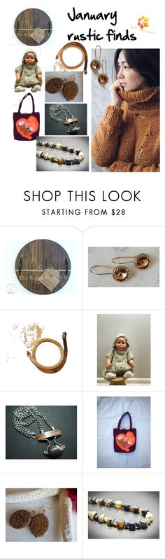 """""""January rustic finds"""" by varivodamar ❤ liked on Polyvore featuring modern and rustic"""
