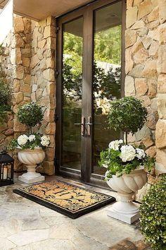 farmhouse front door entrance design ideas tips on selecting your front doors 8 Entrance Design, Door Design, Exterior Design, House Design, Entrance Ideas, Front Door Entrance, House Entrance, Front Door Decor, Front Doors