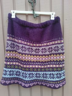 Fair isle skirt