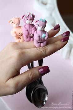 Купить Вкусные ложечки с мишкой тедди - розовый, ложка, ложечка с мишкой, мишка тедди