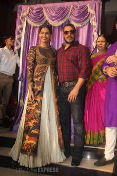 Salman Khan, Sonam Kapoor at a Jewellery brand's logo launch. #Bollywood #Fashion #Style #Beauty #Handsome #Desi