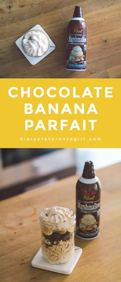 Delicious brunch recipes for the sweet tooth using Gay Lea's Toasted Marshmallow Whipped Cream. Best Dessert Recipes, Brunch Recipes, Fun Desserts, Sweet Recipes, Snack Recipes, Banana Recipes, Ice Cream Recipes, Matcha Chia Seed Pudding, Chocolate Bar Recipe