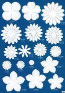 Шаблоны для цветов из фоамирана