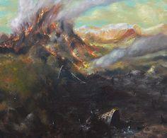Vulcano e l'amore, 2014, oil on canvas, 50 x 60 cm