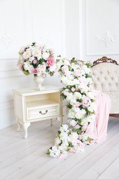 """Фотопроект """"Нежность"""" утро невесты. Весенние декорации фотостудия Richstudio. Оформление AnisDecor"""