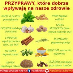 Przyprawy, które dobrze wpływają na nasze zdrowie Slow Food, Health Eating, Nutrition Tips, Healthy Tips, Home Remedies, Herbalism, Healthy Lifestyle, Vegan Recipes, Health Fitness
