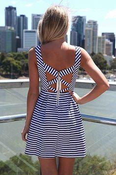 Xenia Stripe Dress