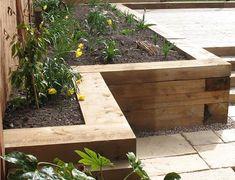 Afbeeldingsresultaat voor houten borders tuin