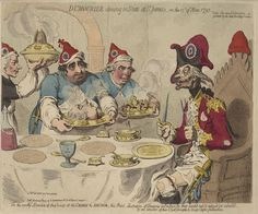 James Gillray - Dumourier dining in State at St.James, on the 15th of May 1793.