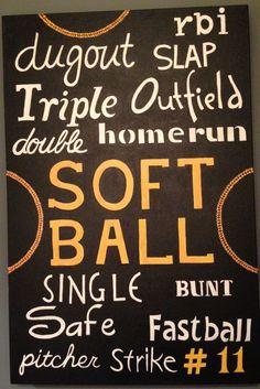 Softball <3 maybe change a little for baseball