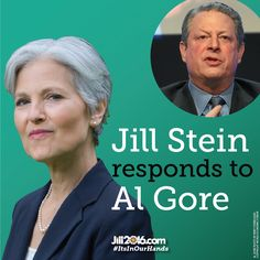 Jill Stein, Green Party Presidential candidate, responded to former Vice President Al Gore's recent statement repeating the myth that Ralph Nader cost Gore the 2000 election.