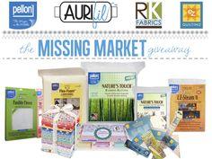 Enter to WIN the Missing Market Giveaway! #Aurifil Pellon, Robert Kaufman, EZ Quilting  #quiltmarket