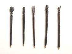 Ebony pens | Giftware | ASHANTI African Design, Pens, Tableware, How To Make, Dinnerware, Tablewares, Place Settings