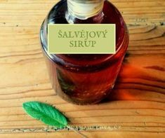 Šalvěj sirup Salvia, Preserves, Cooking Tips, Barware, Herbalism, Food And Drink, Health Fitness, Herbs, Homemade